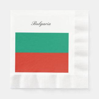 Servilletas Desechables Bandera de Bulgaria o del búlgaro
