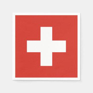 Servilletas Desechables Bandera de Suiza