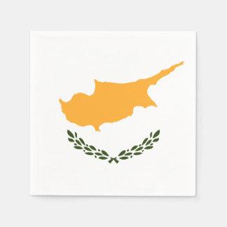Servilletas Desechables Bandera patriótica de Chipre