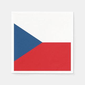 Servilletas Desechables Bandera patriótica de la República Checa