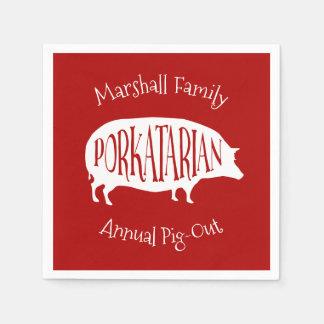 Servilletas Desechables Bbq anual del Cerdo-Hacia fuera de la reunión de