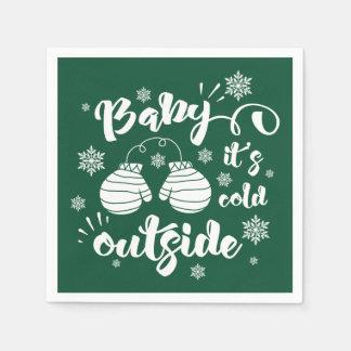 Servilletas Desechables Bebé su invierno lindo de las manoplas del