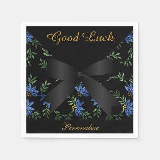 Servilletas Desechables Brillo azul elegante floral
