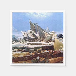 Servilletas Desechables CASPAR DAVID FRIEDRICH - el mar del hielo 1824