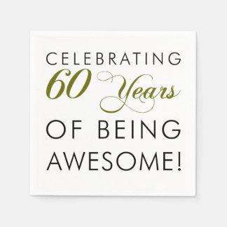 Servilletas Desechables Celebrando 60 años de ser impresionante