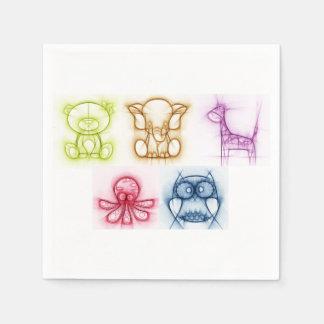 Servilletas Desechables Colores animales