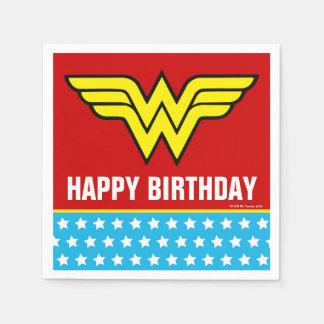 Servilletas Desechables Cumpleaños del logotipo el | de la Mujer Maravilla