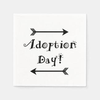 Servilletas Desechables ¡Día de la adopción! Adoptivo/adopte el diseño
