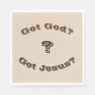 Servilletas Desechables ¿Dios conseguido? ¿Jesús conseguido? Servilletas