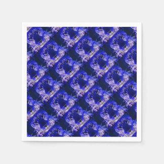 Servilletas Desechables diseño azul del fractal del guepardo