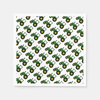 Servilletas Desechables Diseño verde del tractor