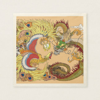 Servilletas Desechables Dragón y Phoenix chinos