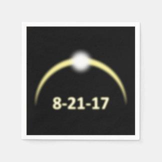 Servilletas Desechables Eclipse solar total 2017 de la corona que brilla