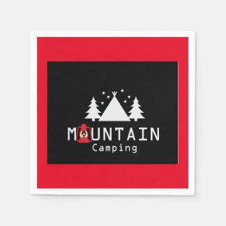 Servilletas Desechables el acampar de la montaña