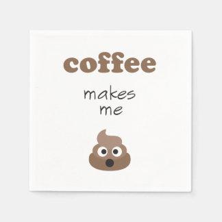 Servilletas Desechables El café divertido me hace frase del emoji del