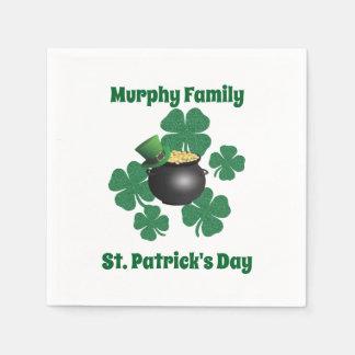 Servilletas Desechables El día de St Patrick personalizado