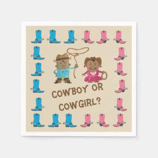 Servilletas Desechables El género de la vaquera o del vaquero revela la