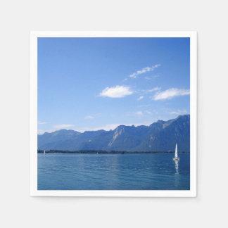 Servilletas Desechables El lago Lemán hermoso