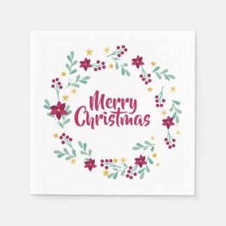 Servilletas Desechables El navidad simple enrruella la servilleta de la