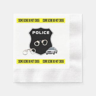 Servilletas Desechables Escena del crimen de la policía