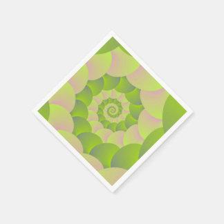 Servilletas Desechables Espiral en rosa y verdes