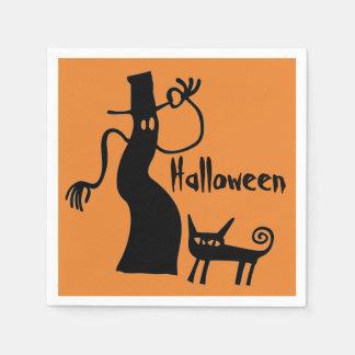 Servilletas Desechables Fantasma y gato negro