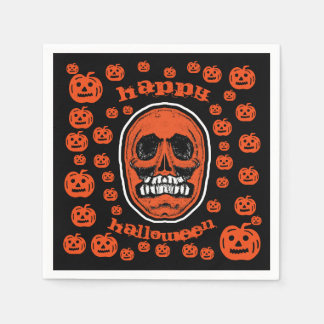 Servilletas Desechables Feliz Halloween - cráneo 2 de los dientes de la