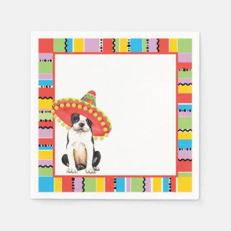 Servilletas Desechables Fiesta Boston Terrier