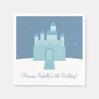 Servilletas Desechables Fiesta congelada hielo de la princesa cumpleaños