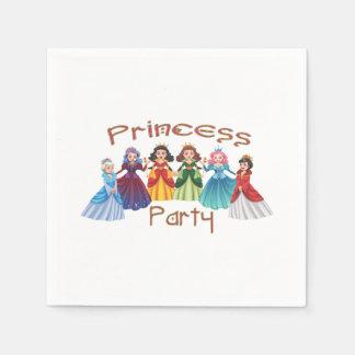 Servilletas Desechables Fiesta de la princesa cumpleaños