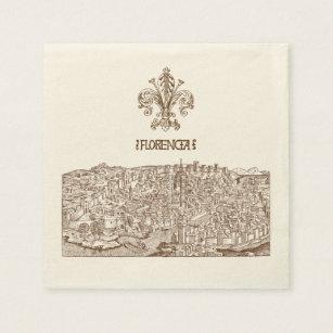 Servilletas Desechables Florencia, grabar en madera medieval