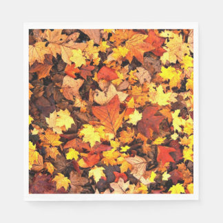 Servilletas Desechables Follaje de otoño