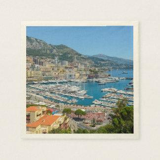 Servilletas Desechables Fotografía de Mónaco Monte Carlo