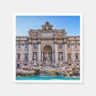 Servilletas Desechables Fuente del Trevi, Roma, Italia