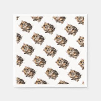 Servilletas Desechables gama del diseño del fractal del gatito
