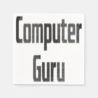 Servilletas Desechables Gris de Guru de ordenador