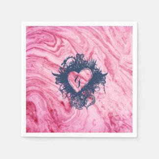 Servilletas Desechables hermoso elegante del modelo de mármol rosado de la