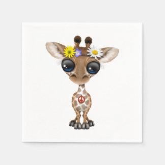 Servilletas Desechables Hippie lindo de la jirafa del bebé