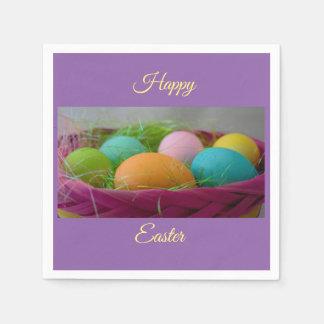 Servilletas Desechables Huevos de Pascua coloridos