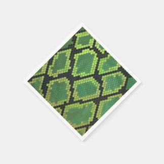 Servilletas Desechables Impresión negra y verde de la serpiente