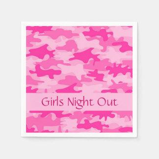 Servilletas Desechables La noche rosada de los chicas del camuflaje de