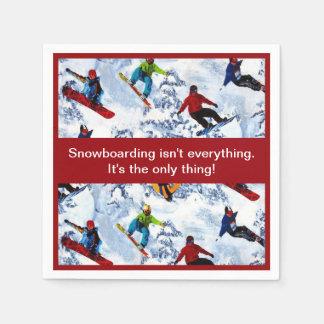 Servilletas Desechables La snowboard no es todo