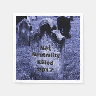 Servilletas Desechables Lápida mortuaria neta de la neutralidad del RASGÓN