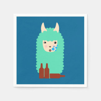 Servilletas Desechables Llama borracha divertida Emoji
