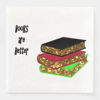 Servilletas Desechables Los libros son mejores