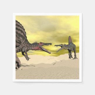 Servilletas Desechables Lucha del dinosaurio de Spinosaurus - 3D rinden