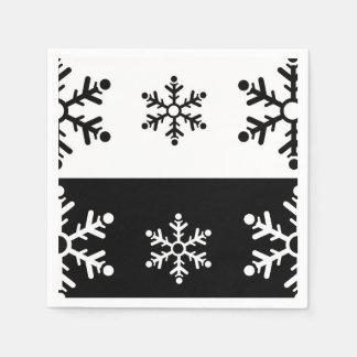 Servilletas Desechables Modelo blanco y negro minimalista del copo de