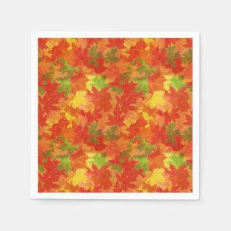 Servilletas Desechables Modelo de las hojas de otoño