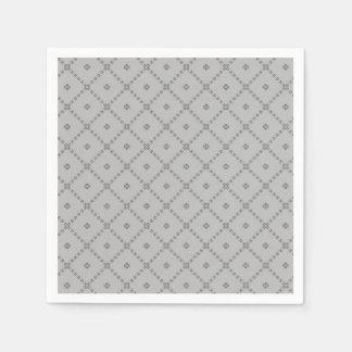 Servilletas Desechables Modelo del gris del diseño gráfico