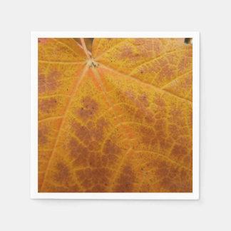 Servilletas Desechables Naturaleza amarilla del extracto del otoño de la